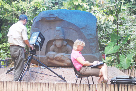 Collins and Doering Scanning Altar in Mexico